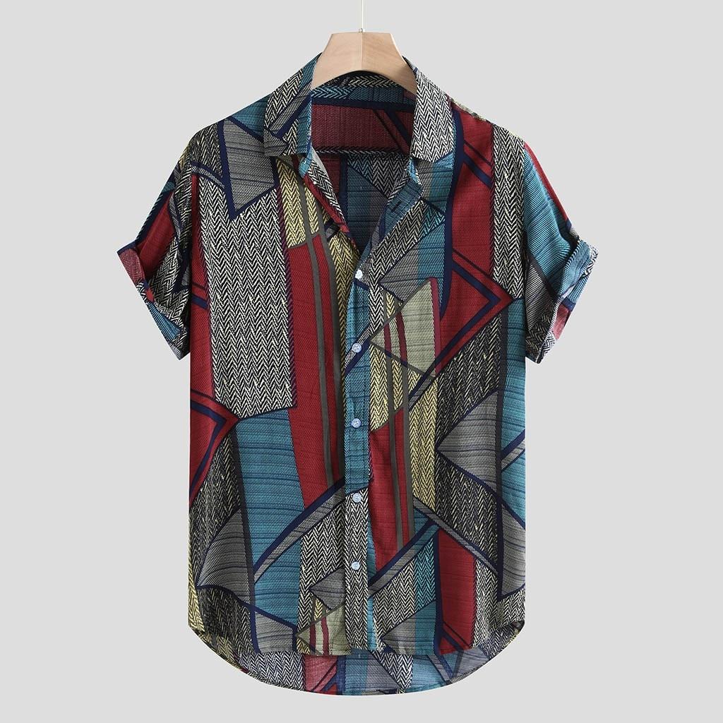 NEUE Hawaii Shirts Männer Hip Hop Druck Phantasie Strand Streetwear Sommer Männer Casual Kurzarm Urlaub Hemd Baumwolle Shirts Männer