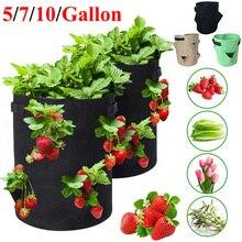 Jardin extérieur plantation cultiver sac fraise verticale fleur herbe poche racine respirant légume rond réutilisable Pot planteur D30