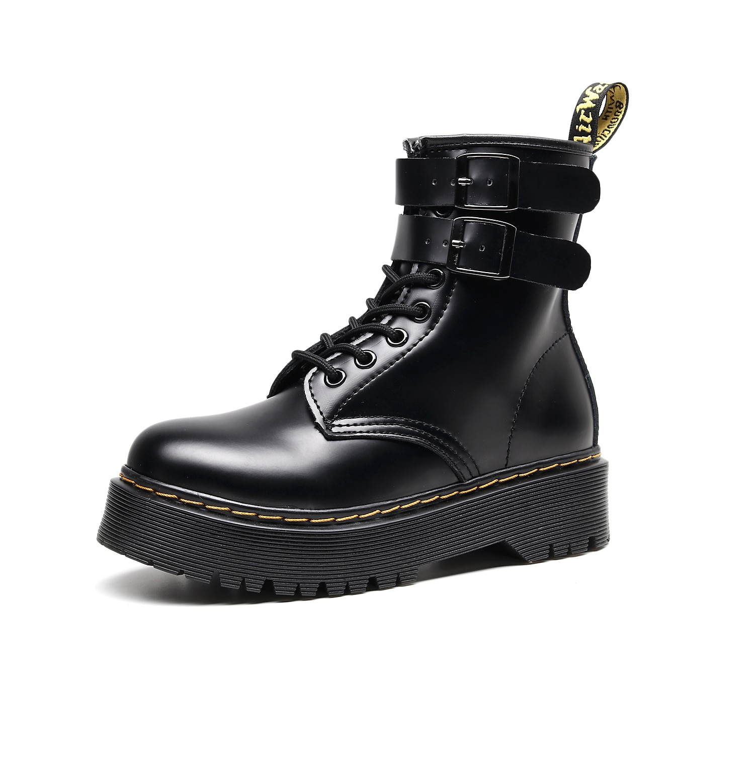 Martens Boots 8-hole Zip Platform Martin Boots Women Retro Lace-up Boots Men Women Ankle Boots