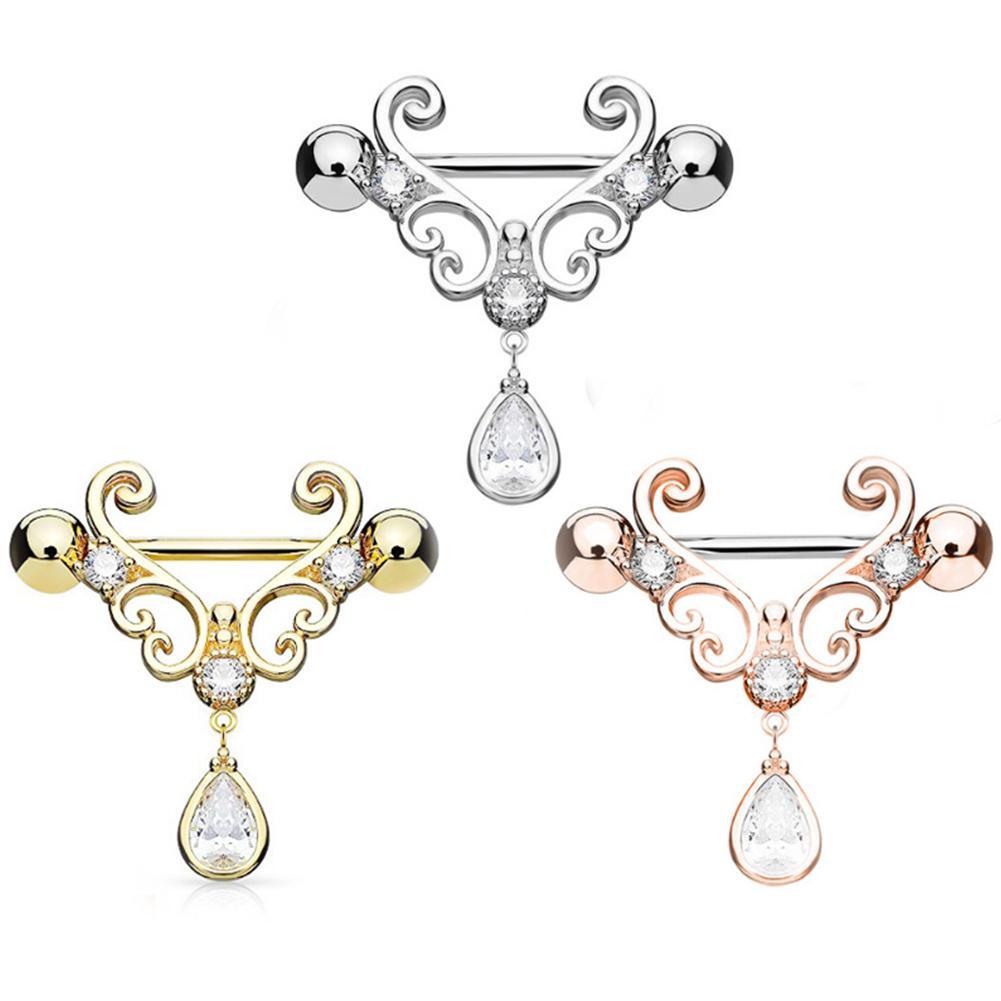 1Pc Nipple Piercing Fashion Body Piercing Piercing Big Zircon Rings Body Jewelry for Women Girls