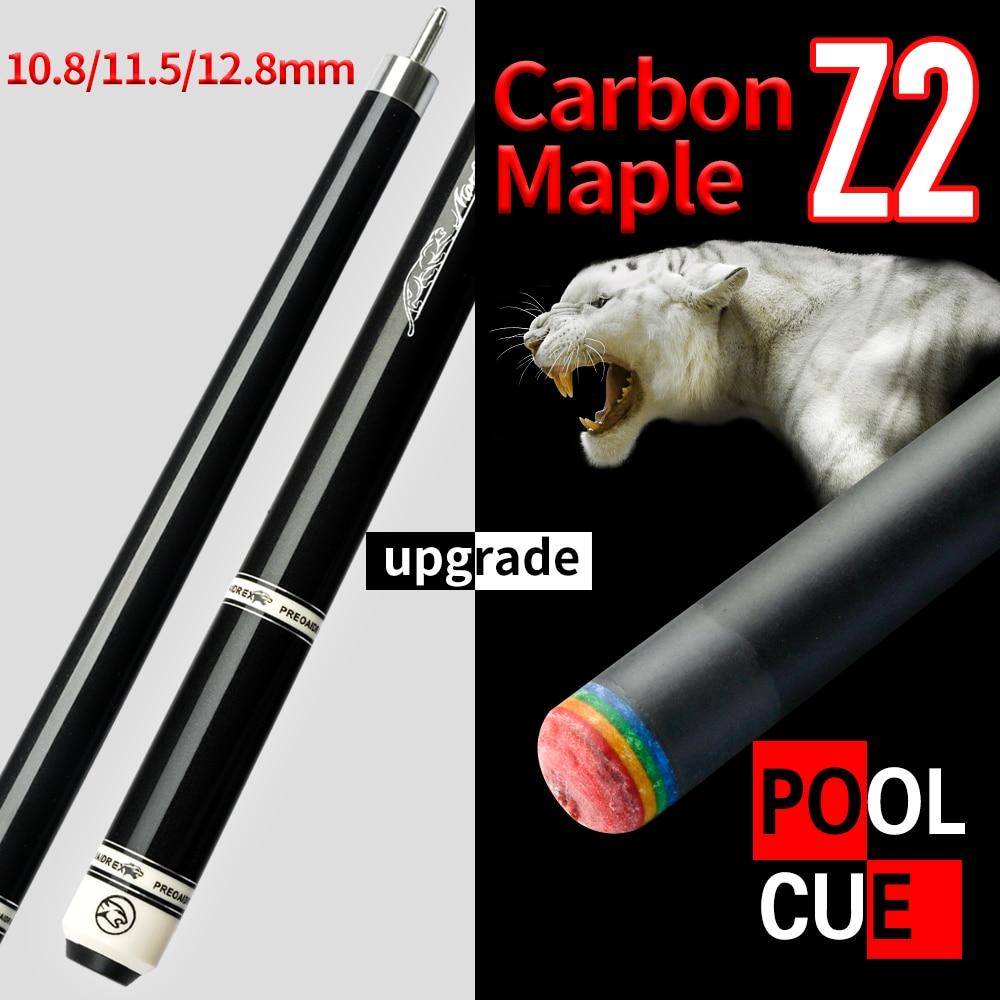 2021 New Arrival PREOAIDR 3142 Carbon Fiber Pool Cue Stick Rainbow Tip  Carbon Maple Technology Shaft Uni-loc Joint Billiard Cue
