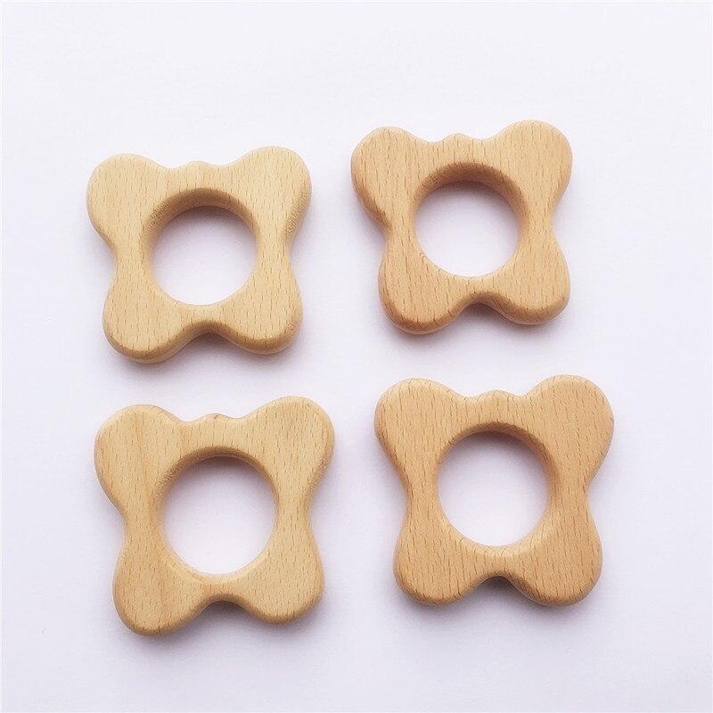 Chenkai 10 шт. деревянные бабочки Прорезыватель природа детская игрушка для захвата DIY органические Экологичные деревянные подарки аксессуары