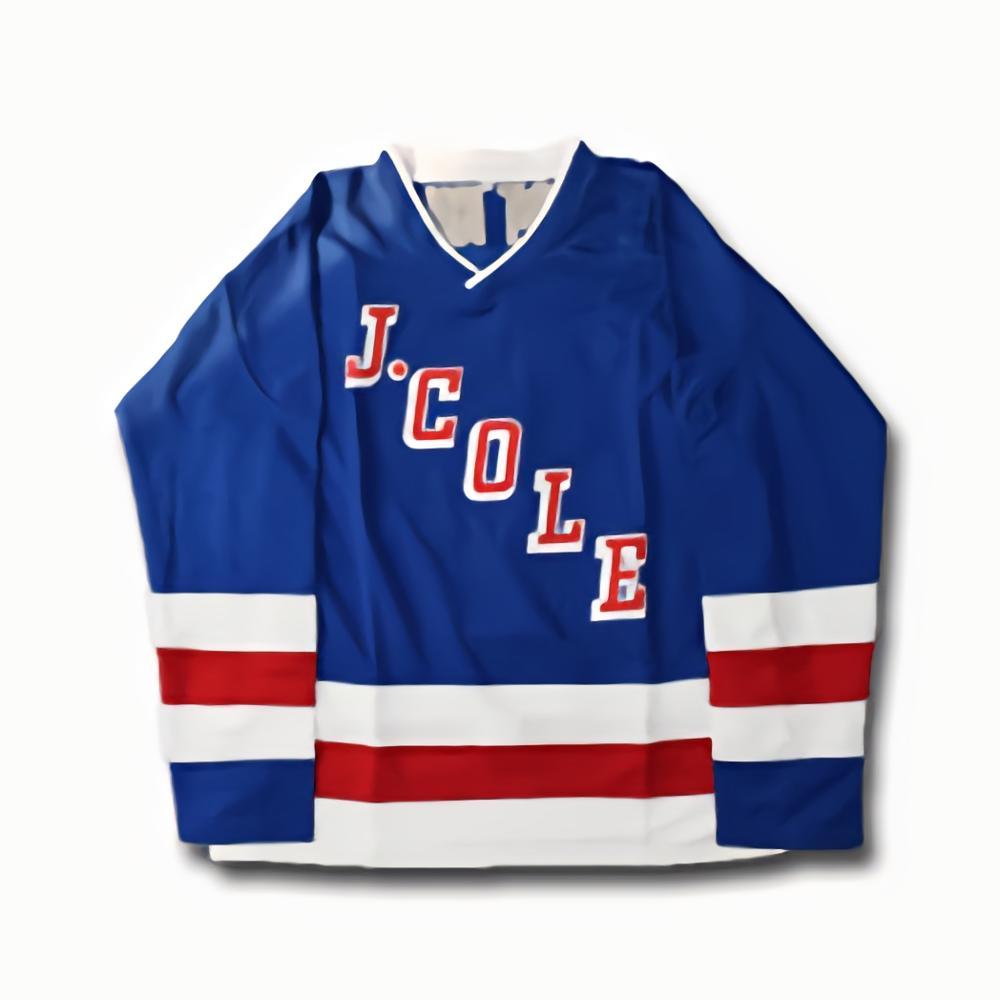 Camiseta de Hockey sobre hielo Forest Hills n. ° 14 J.cole, para hombre, azul, Hockey