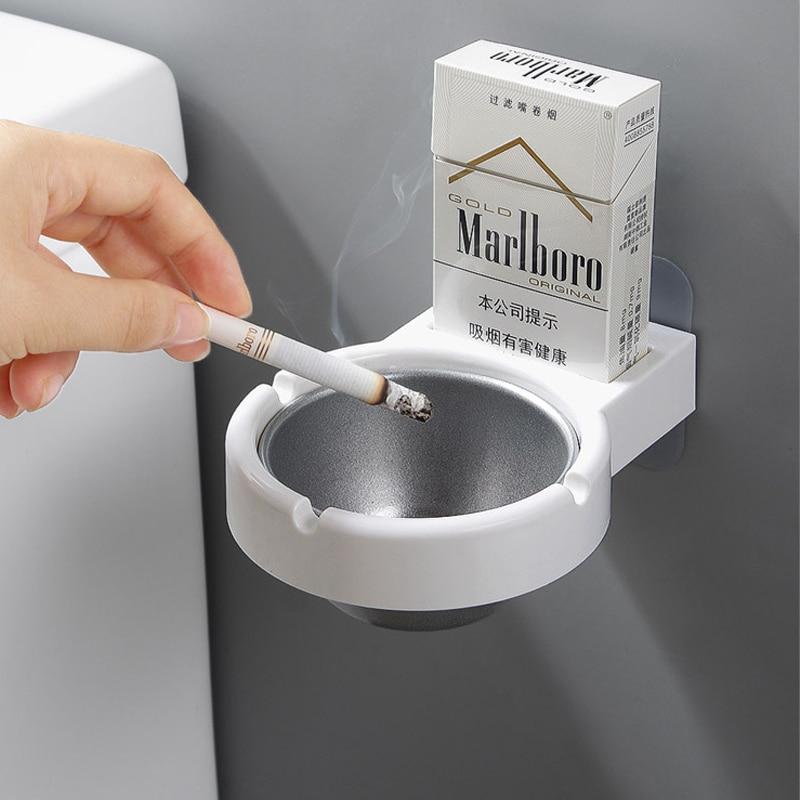 Переносные пепельницы для хранения чашки пепельница настенный держатель карманная дым держатели для туалетной Офис сигареты инструменты ...