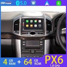 "8 ""IPS 1280*720P PX6 4G + 64G Anroid 10 voiture lecteur DVD Radio GPS pour Chevrolet Captiva 2012-2016 perroquet BT Auto CarPlay 4G SIM"