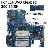 KoCoQin Laptop motherboard For For LENOVO Ideapad 300-15ISK I5-6200U Mainboard 5B20K38185 BMWQ1/BMWQ2 NM-A481 SR2EY 216-0867030