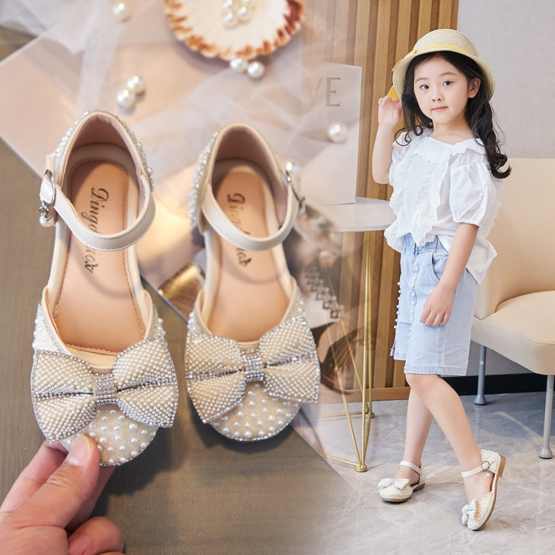 Spring Autumn Girls Shoes Chaussure Fille Soft soles Bowknot Princess Shoes Kids Single Shoes Children Leather Shoes For Wedding girls leather shoes children girls baby princess bowknot sneakers pearl diamond single shoes kids dance shoes newest autumn