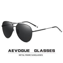 AEVOGUE 남자 파일럿 편광 선글라스 두 빔 블루 그린 오션 렌즈 Unisex Sun Glasses UV400 AE0847