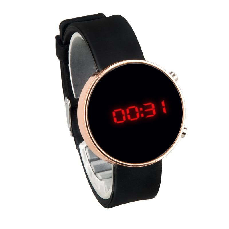 Часы наручные женские цифровые со светодиодным дисплеем, цифровые, с силиконовым ремешком