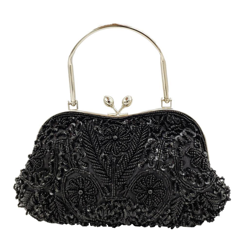 Boutique de fgg elegante quadro feminino formal frisado noite bolsas e bolsas lantejoulas nupcial bolsa de embreagem cocktail festa saco