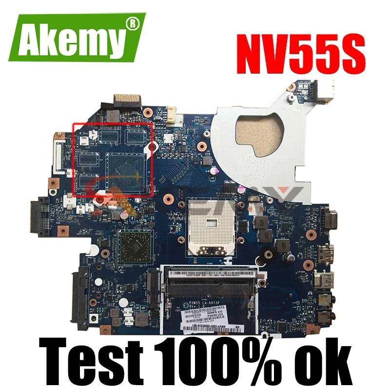 MBWY102001 LA-6973P ل بوابة NV55S P5WS5 اللوحة المحمول LA-6973P DDR3 اللوحة 100% اختبارها بشكل كامل