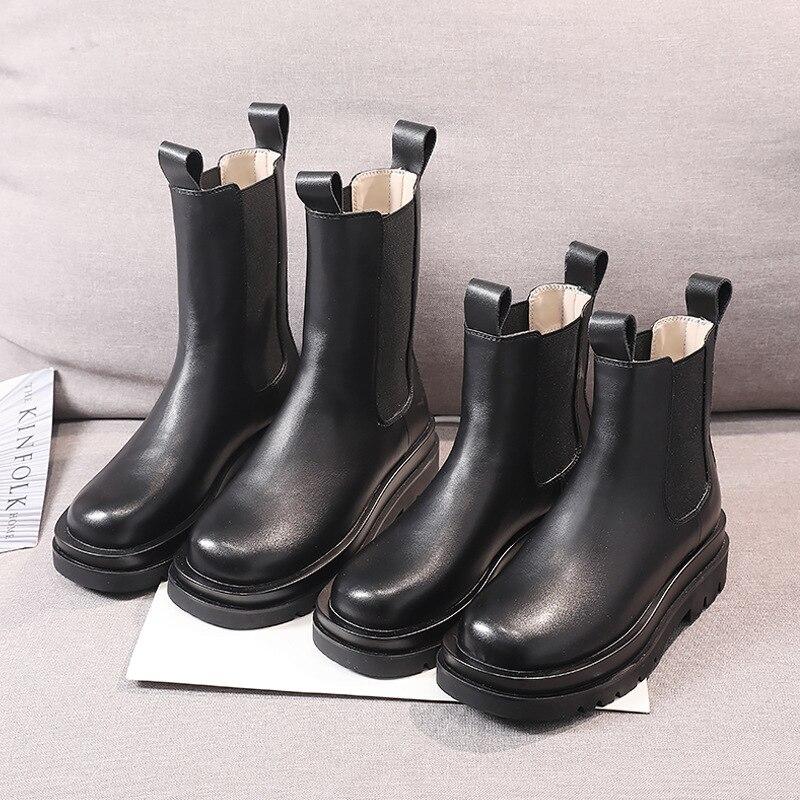 Ankel-Botas informales De piel auténtica para Mujer, zapatos a la moda, Zapatillas...