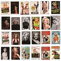 Cinema Film Plaques Vintage metal etain signes Marilyn Monroe Stickers muraux Bar Club cafe decoration Plaques decor a la maison A14