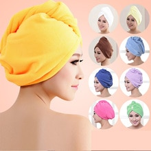 Microfiber Hair Drying Packaging After Shower Female Girl Ladies Towel Quick-drying Hair Hat Cap Tur