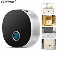 Smart Fingerprint Lock Wooden Door Lock Digital Electronic Lock Security Alarm File Drawer Office Cabinet Lock Zinc Alloy