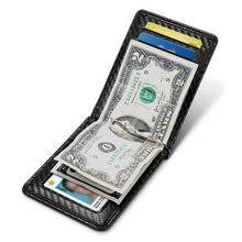 NewBring Carbon Fiber Driver Licence ID Card Holder Money Purse Cash For Men