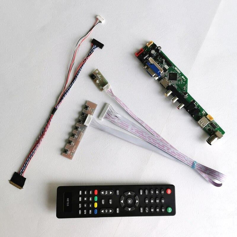 Fit LTN156AT20/LTN156AT23/LTN156AT27 40Pin LVDS WLED VGA USB عن بعد 15.6 بوصة لوحة كمبيوتر محمول 1366*768 طقم لوحة تحكم الشاشة