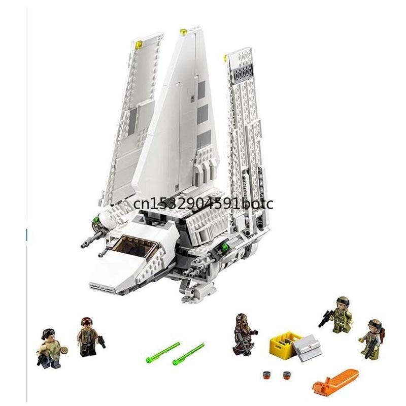 Bloques de construcción de Starwars 05034 compatibles con 75094 bloques Star Toys Wars serie Imperial Shuttle Mini juguetes ensamblados para niños