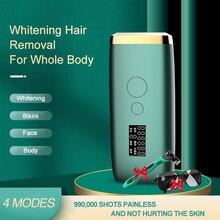999990 flash IPL Laser Depilator epilator permanent LCD laser hair removal Photoepilator women painl