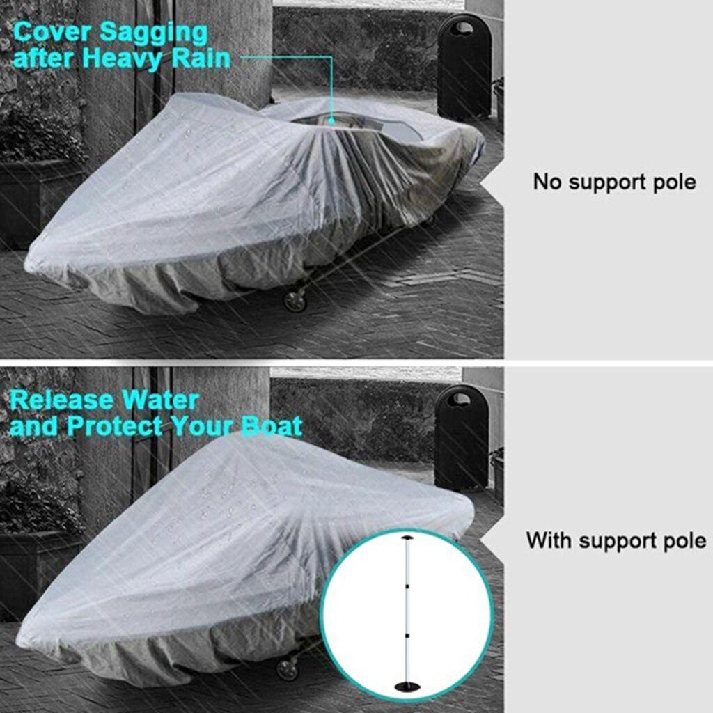 Cubierta de bote ajustable telescópica de aluminio marino, soporte de poste
