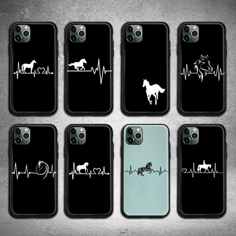 AliExpress - Horse Pony Horse Heartbeat Phone Case for iphone 12 pro max 11 pro XS MAX 8 7 6 6S Plus X 5S SE 2020 XR case