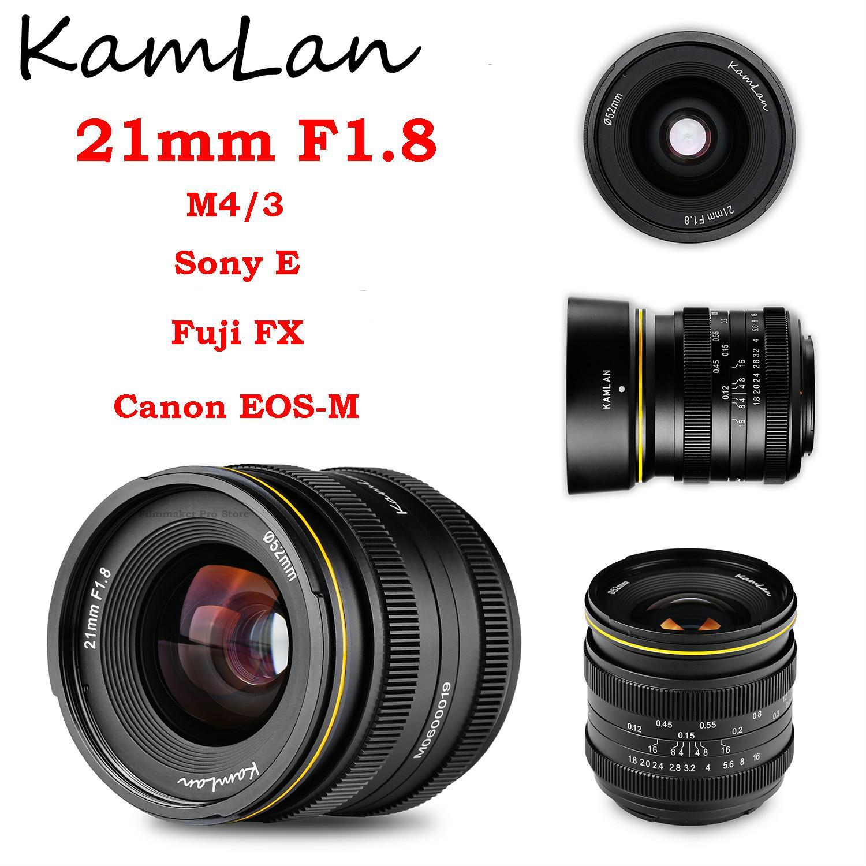 Kamlan 21 مللي متر F1.8 عدسة كاميرا بدون مرآة مقاوم للماء MF دليل إصلاح التركيز رئيس لكانون EOS-M سوني E فوجي X FX M4/3 ل M1 M2