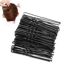 50 Stk/partij Black Plated Metalen Dunne U-vorm Haarspelden Meisjes Haar Clips Haarspeldjes Beauty Kappers Accessoriess Styling Tools