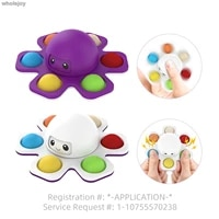 rotating cartoon octopus fidgety stress relief fingertip color gyroscope toy adult children gift