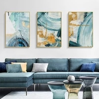 hand painted oil painting decorative painting the living room sofa backdrop triple modern luxury light golden ring light luxury