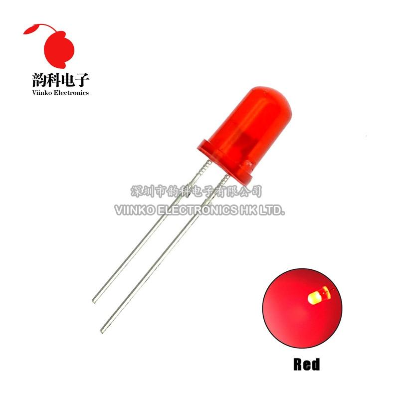 1000 Pcs 5 Mm Led Diode F5 Diverse Kit Wit Groen Rood Blauw Geel Oranje Roze Paars Warm Wit Diy light Emitting Diode