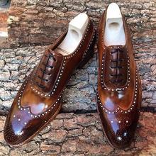 Men Leather Fashion Shoes Low Heel Fringe Shoes Dress Shoes Brogue Shoes Spring Ankle Boots Vintage