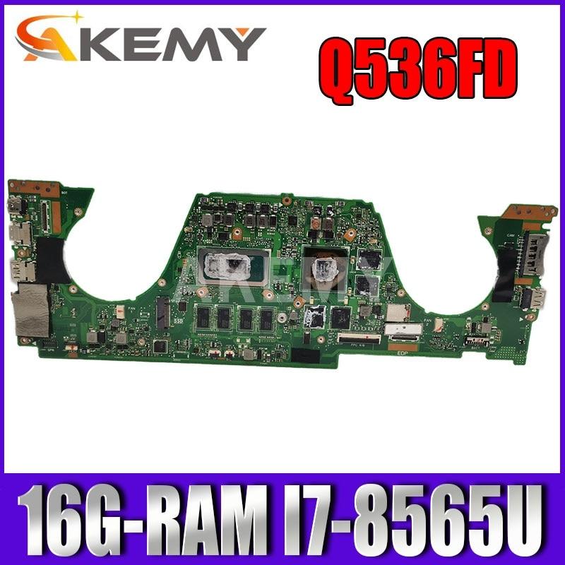 UX562FD REV2.0 الأم للكمبيوتر محمول Asus Q536FD Q536FN Q536FDX UX562F اللوحة W/ 16G-RAM I7-8565U (V2G)
