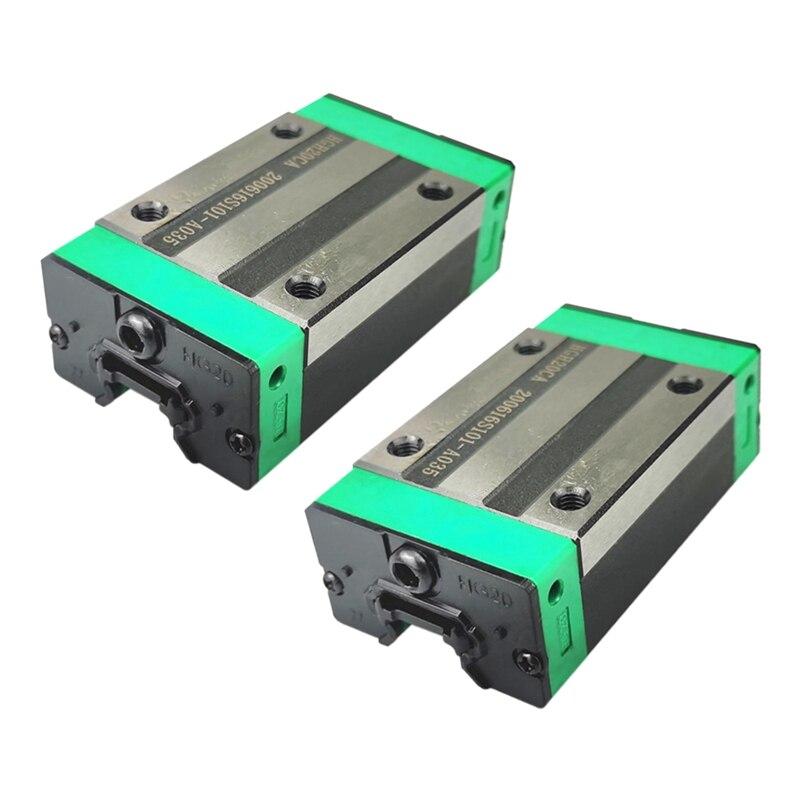 منزلق سكة التوجيه الخطي HGH20CA ، دليل خطي HGR ، أجزاء دليل CNC Diy ، 2 قطعة
