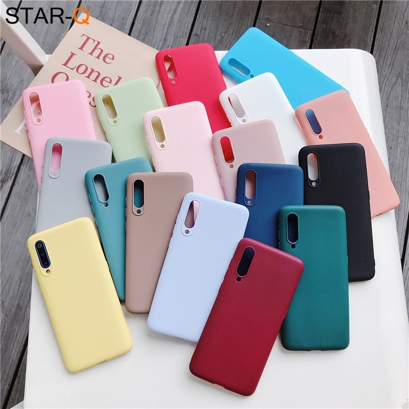 candy color silicone case for xiaomi mi 9 lite se mi9 mi8 8 a2 lite 9t pro a3 a1 note 10 mix 2s 3 ma