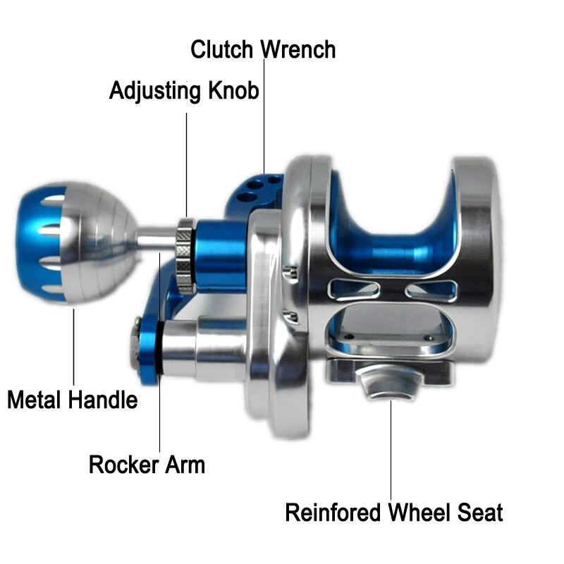 Trolling Jigging Reel Boat Handle All Metal Aviation Aluminum Saltwater Fishing Jig Reel Spinning Reel Jigging for Fishing enlarge