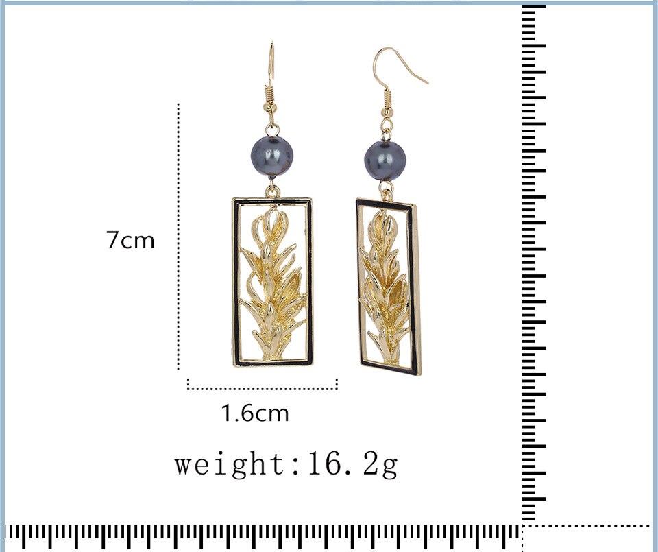 V-290 brincos de gota geométrica moda feminina preto pérola design balançar brinco para o casamento feminino jóias de verão