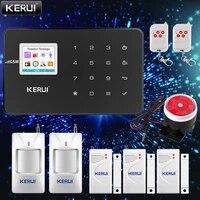 KERUI     systeme dalarme de securite domestique intelligent G18  GSM  controle avec application de numerotation automatique  detecteur de mouvement  capteur anti-cambriolage