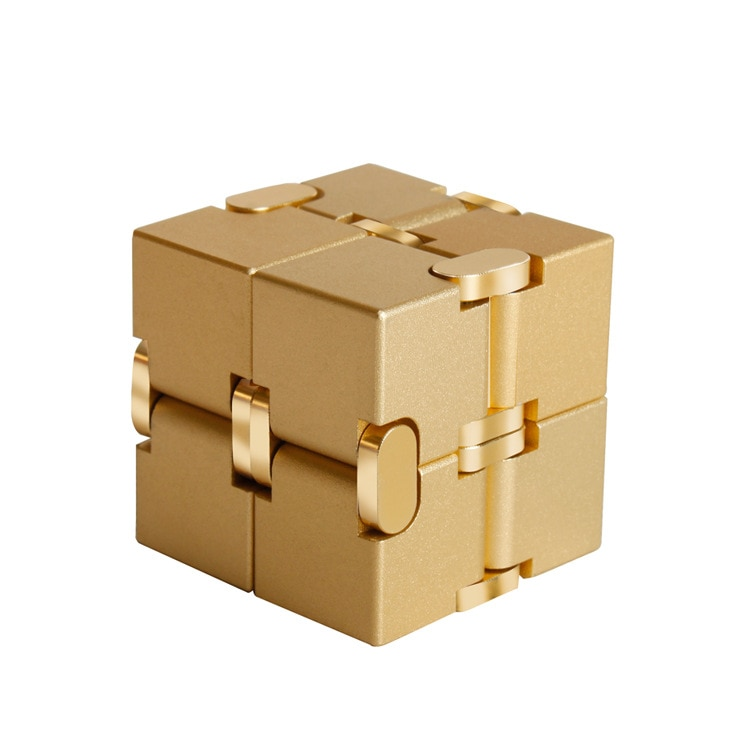 2020 New Stress Relief Toy Premium Metal Infinity Cube Portable Decompresses Relax Toys for Children Adults enlarge