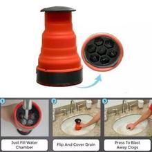 Bathroom Sewer trap Pipe dredger Clog Drain Blaster Air Pressure Pump Toilet Kitchen Bathroom Sink Clean Plunger Practical
