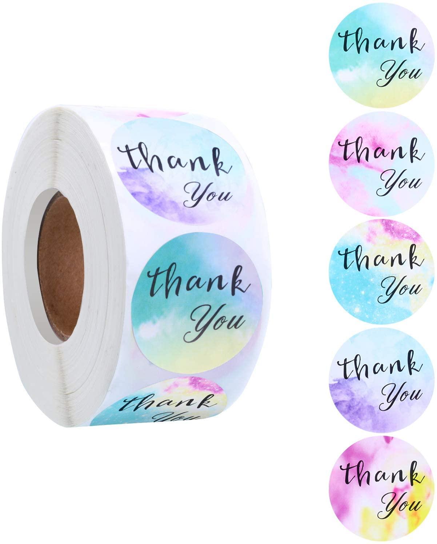 500 шт Спасибо наклейки красочные конверты этикетки для печати 5 видов конструкций для свадьбы красивый подарок декор канцелярские наклейки ...