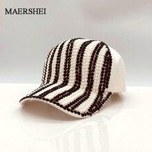 MAERSHEI Nieuwe Merk Baseball cap voor vrouwen strass hoed Lady Girl caps Verstelbare zwarte snapback Bone hoeden Pet