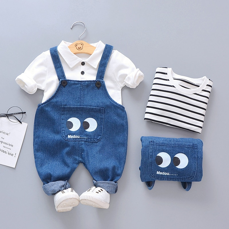 Infant Clothing 2021 Spring Autumn Newborn Baby Girls Clothes T-shirt+Pants 2pcs Outfit Suit For Baby Boy Clothes Sets 0-3 Years