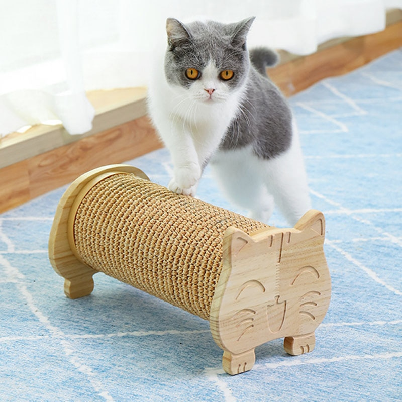Scratching Column For A Cat Sisal Claw Sharpener Cat Scratching Post Cardboard House Sofa Cat Scratch Protector Training Toy