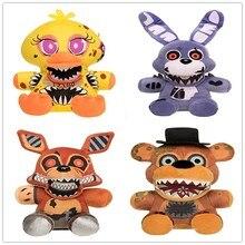 4 pièces/lot 18cm cinq nuits chez Freddys 4fnaf Bonnie Freddy Bear Chica Foxy peluche jouets poupée peluche douce jouets poupée pour enfants cadeaux