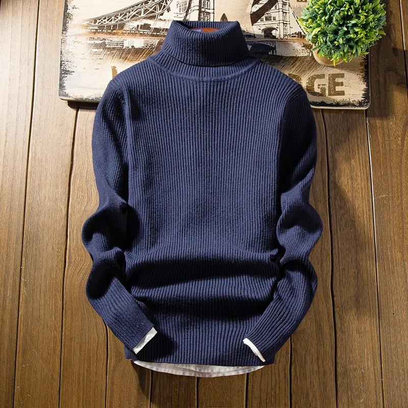 Jerseys para hombre, jersey de lana para hombre, ropa de marca, suéter Casual con cuello redondo, jersey de hombre con patrón de puntos, Camisa de algodón de manga larga para hombre