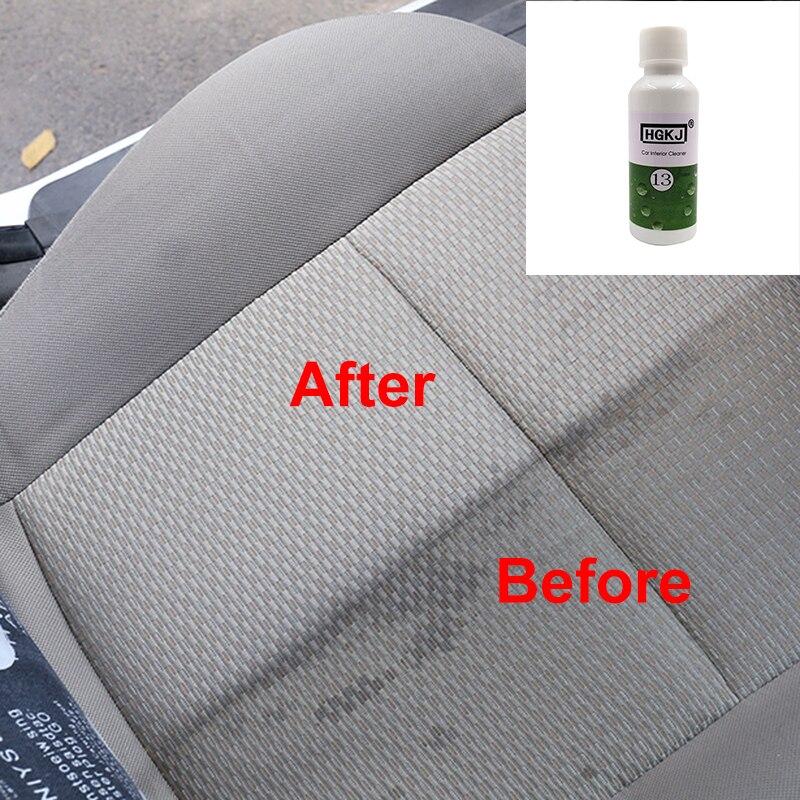 20ML de asiento de coche interiores de cuero limpiador de alta concentración de espuma de plástico agente parabrisas limpieza limpiador de la ventana accesorios de coche