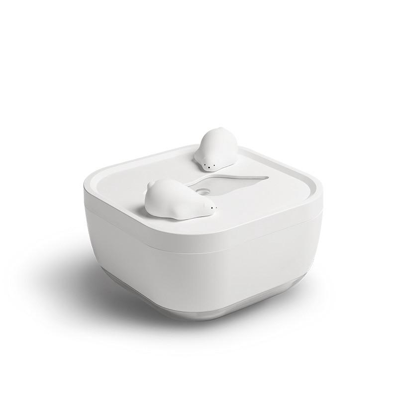 Горячая 700 мл большой емкости ультразвуковой увлажнитель USB милый полярный медведь нажмите кнопку тумана увлажнитель арома-диффузор с тепл...