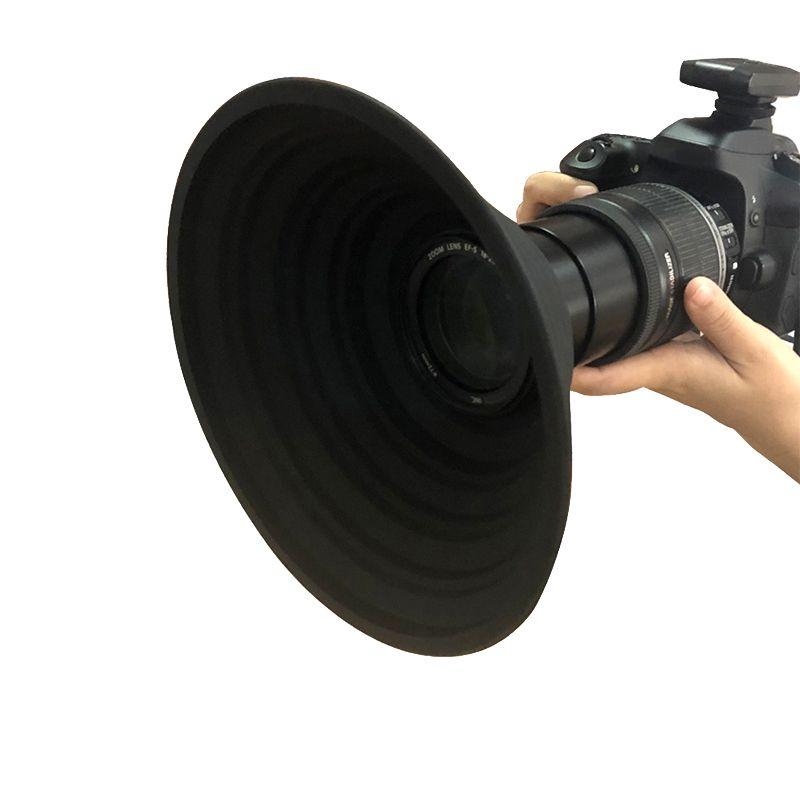 2020 a capa de lente final para nikon canon sony lente da câmera 58-77mm tirar reflexão-livre fotos vídeo silicone lente da câmera capa