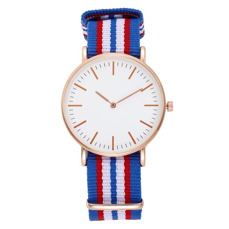 Fashion Casual Women Luxury Watch Nylon Band Quartz Watches Silver Gold Elegent Ladies Wristwatch for Women Dress Reloj Mujer