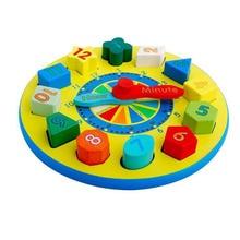 Math Toys Wooden Montessori Toys Digital Clock Blocks Kids Educational Toy For Child Cute Rabbit Clock Brinquedos Educativos